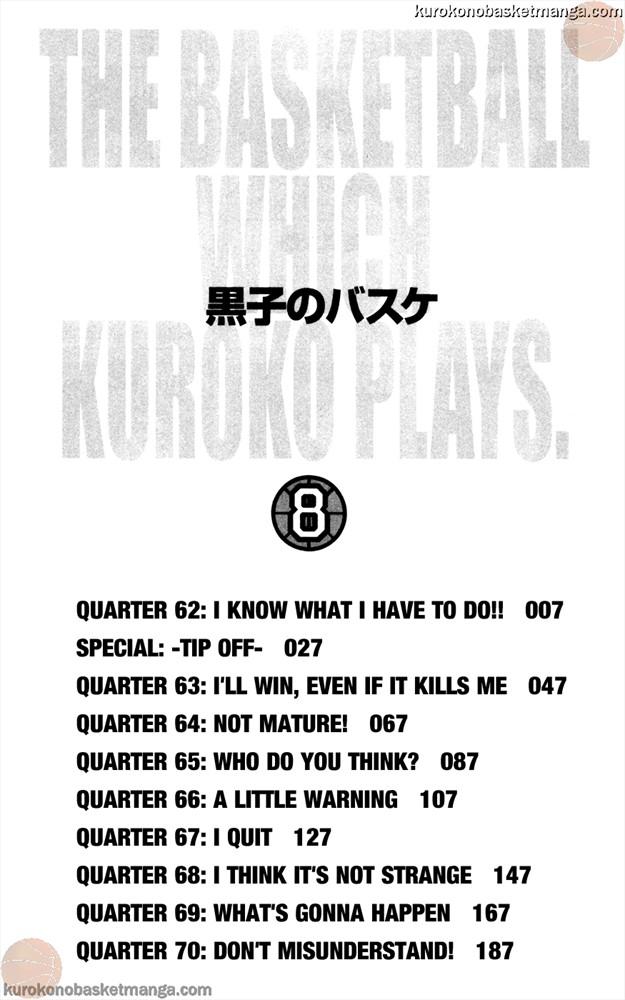Kuroko no Basket Manga Chapter 62 - Image 4