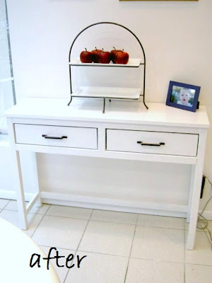 small sideboard after