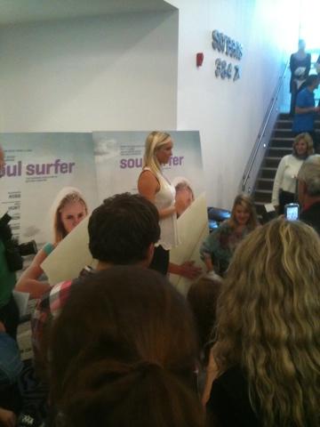 Bethany Hamilton, Soul Surfer Premier Newquay Cinema