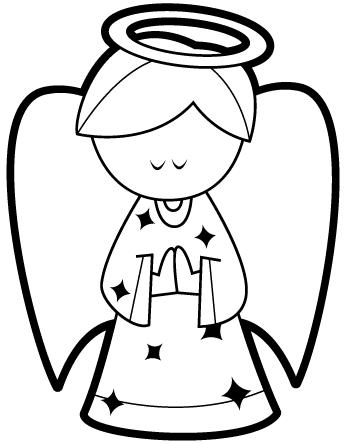 Angel praying coloring pages