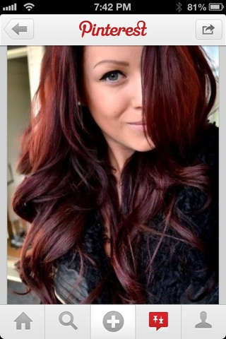 Cherry Cola Brown Hair Color With Highlights