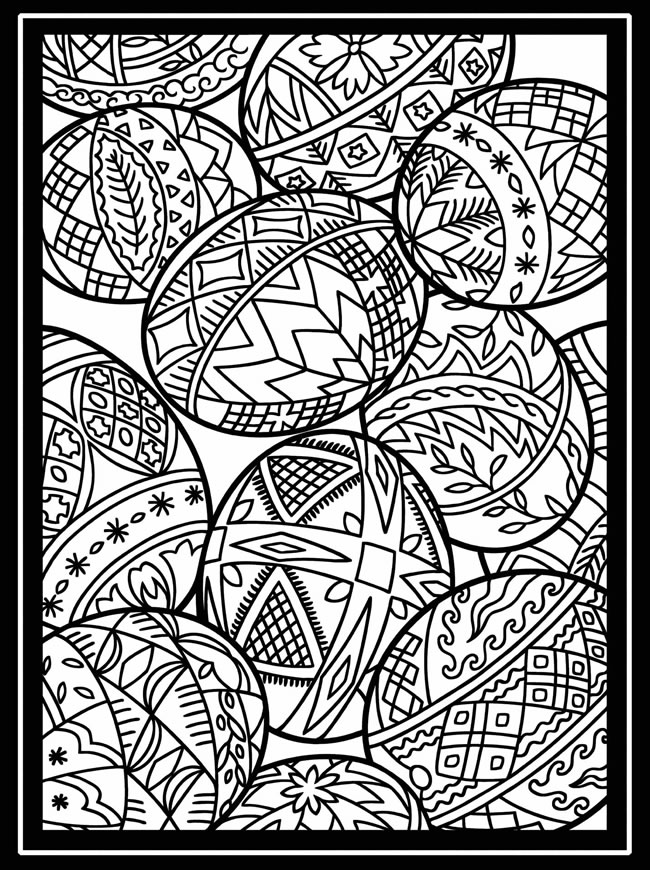 easter clip art coloring pages - photo #40