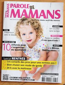 cubes et petits pois dans le magazine parole de mamans