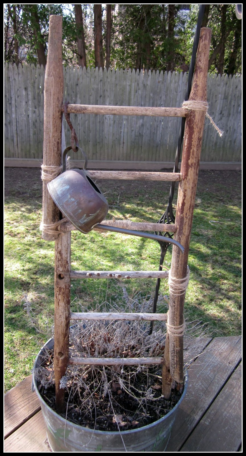 Old Broken Chair Now A Ladder