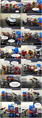 jazzing things up - my toys are alive 06 transformers fan comics optimash prime  lambo twins prowl megatron jazz