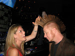 There's always time for a mohawk touching...notice that we were at another coyote ugly style bar...the bartenders are up dancing in the background
