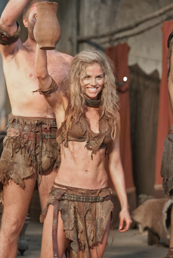 Ellen Hollman as Saxa in Spartacus Vengeance SPARTACUS: Vengeance Episode 2.08 Ashur VIDEO Saxa Profile SPOILER @spartacus starz