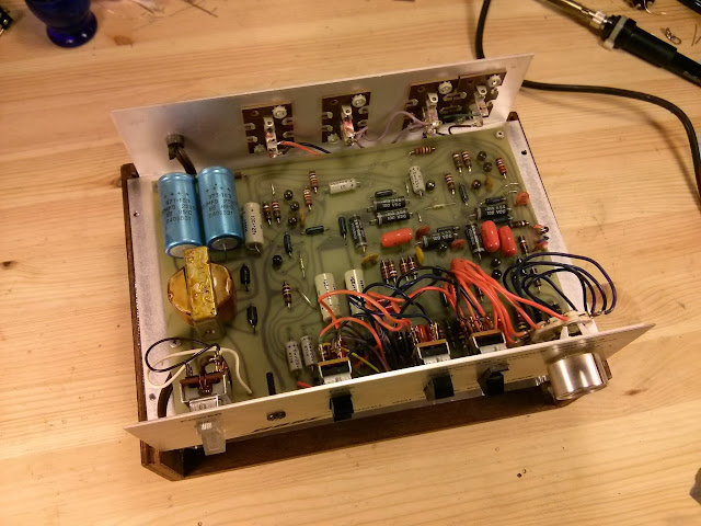 bose 802 controller. the series i early production boards have no solder mask and so component labels on top side. circuit has some major differences to bose 802 controller