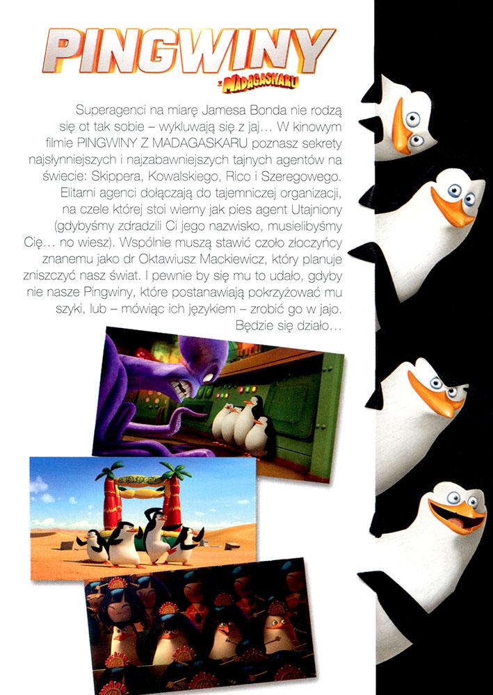 Ulotka filmu 'Pingwiny Z Madagaskaru (tył)'