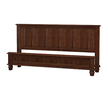 Lotus Platform Bed in Temperance Walnut