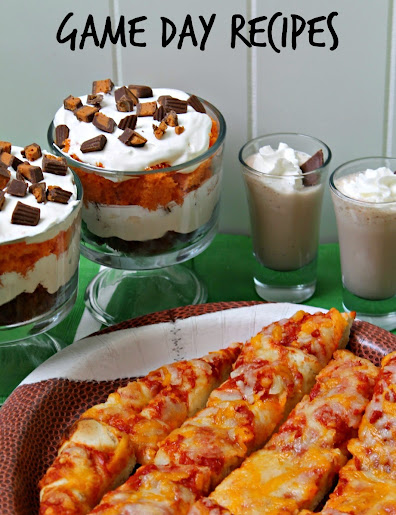 Game Day Recipes: Butterfingers Peanut Butter Cups Minis trifle recipe & milkshake shooters with DiGiorno Cheese Stuffed Crust 5 Cheese Pizza #GameTimeMVP