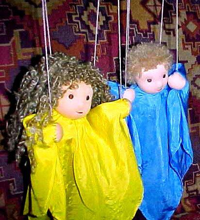 Waldorf Silk Marionette Puppet, Custom Order