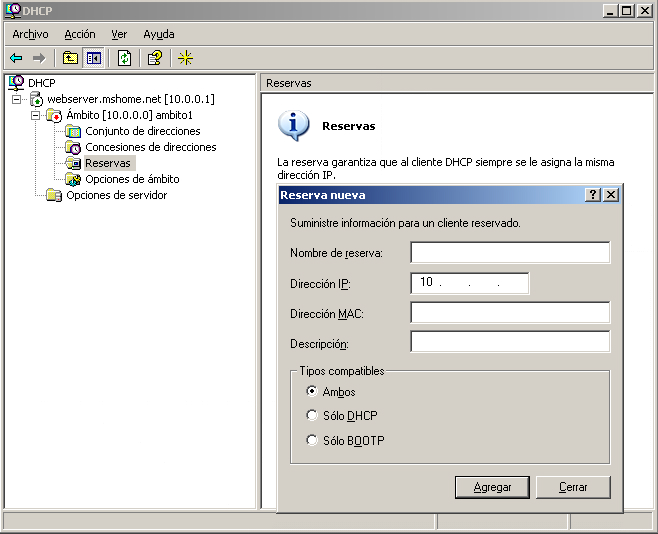 how to create dhcp server in windows 7