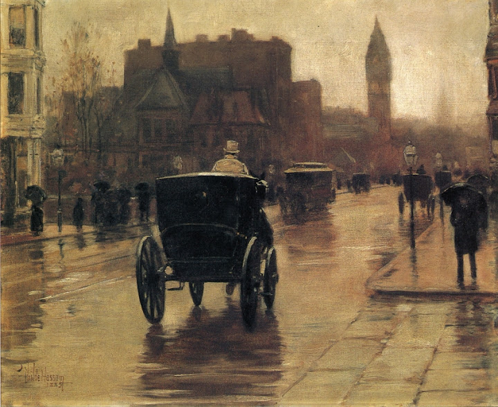 Childe Hassam - Columbus Avenue, Rainy Day