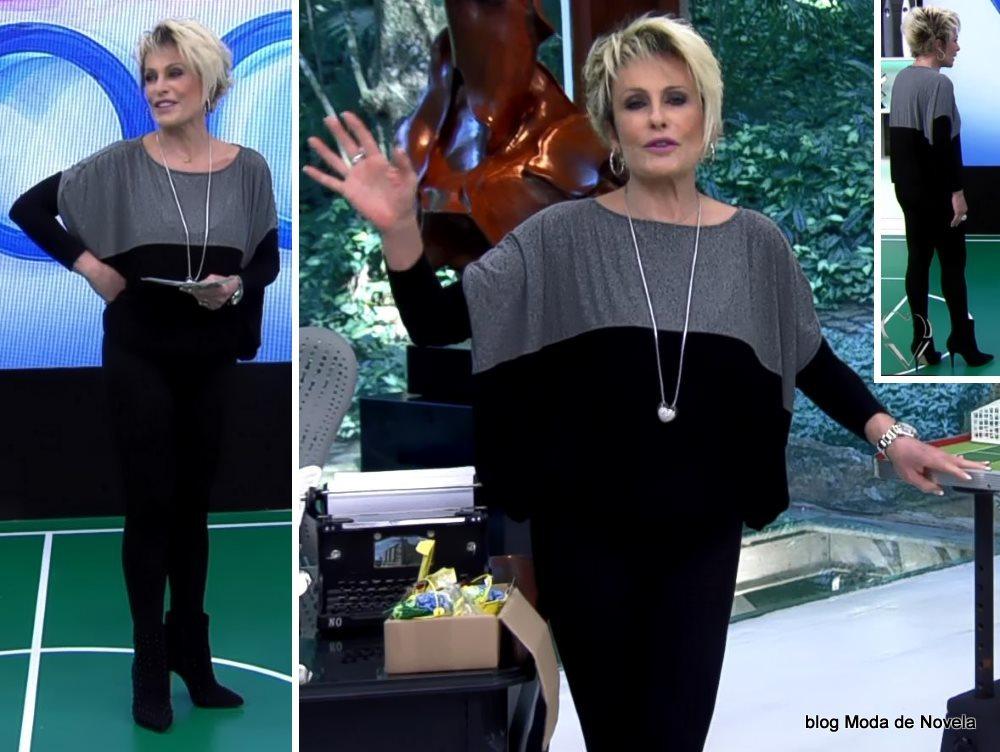 moda do programa Mais Você - look da Ana Maria Braga dia 2 de julho