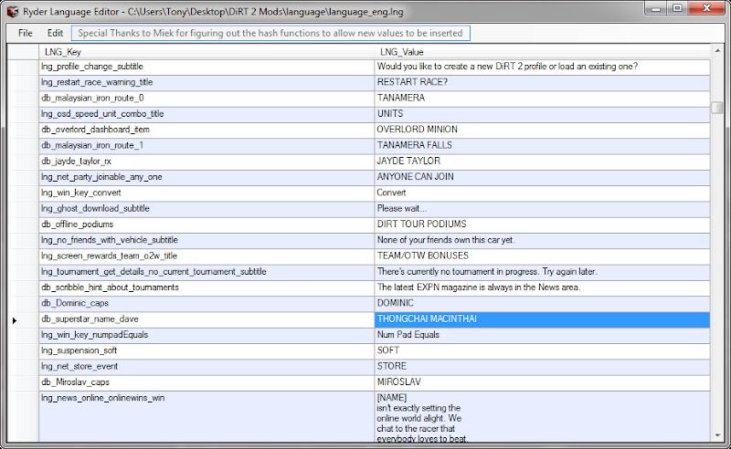 Ryder Language Editor v1.1.2011.0616 เครื่องมือจัดการข้อความในเกม Rle01