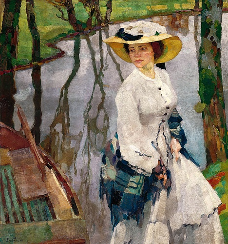 Leo Putz - On the River Bank