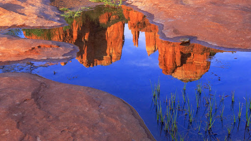 Reflection of Cathedral Rock at Red Rock Crossing, Sedona, Arizona.jpg