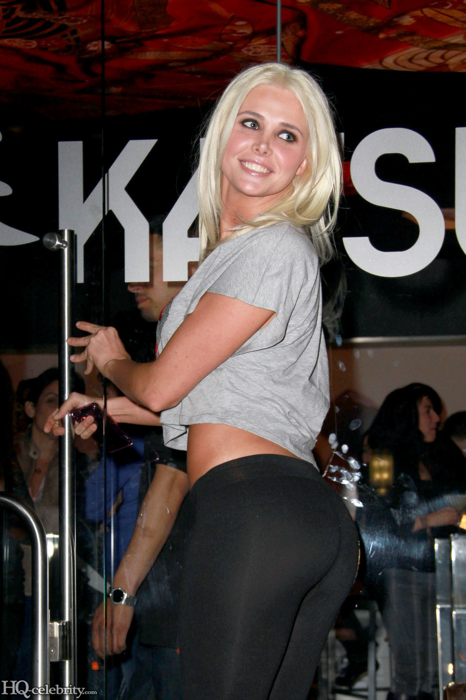 Celebrity Butts: Karissa Shannon in tight black pants