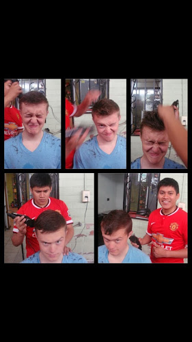 haircuts on the mission are fun =P Elder Chavez did a really good job =)