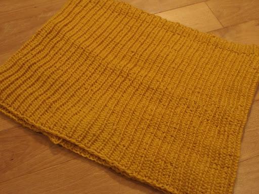 [写真]編み直した腹巻