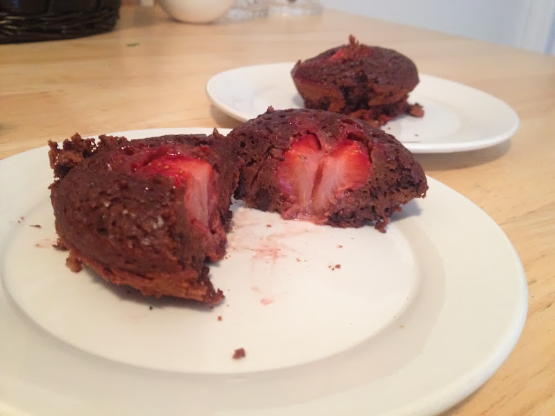 Chocolate Strawberry Cupcake for Two