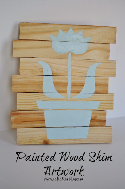 DSC 6780withlabel Guest Post: Pallet Art from Wood Shims from Just Us Four