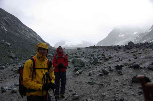 L'ambiance inoubliable du glacier d'Otemma…