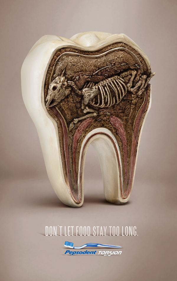 Advertisement creative tooth pepsodent torsion