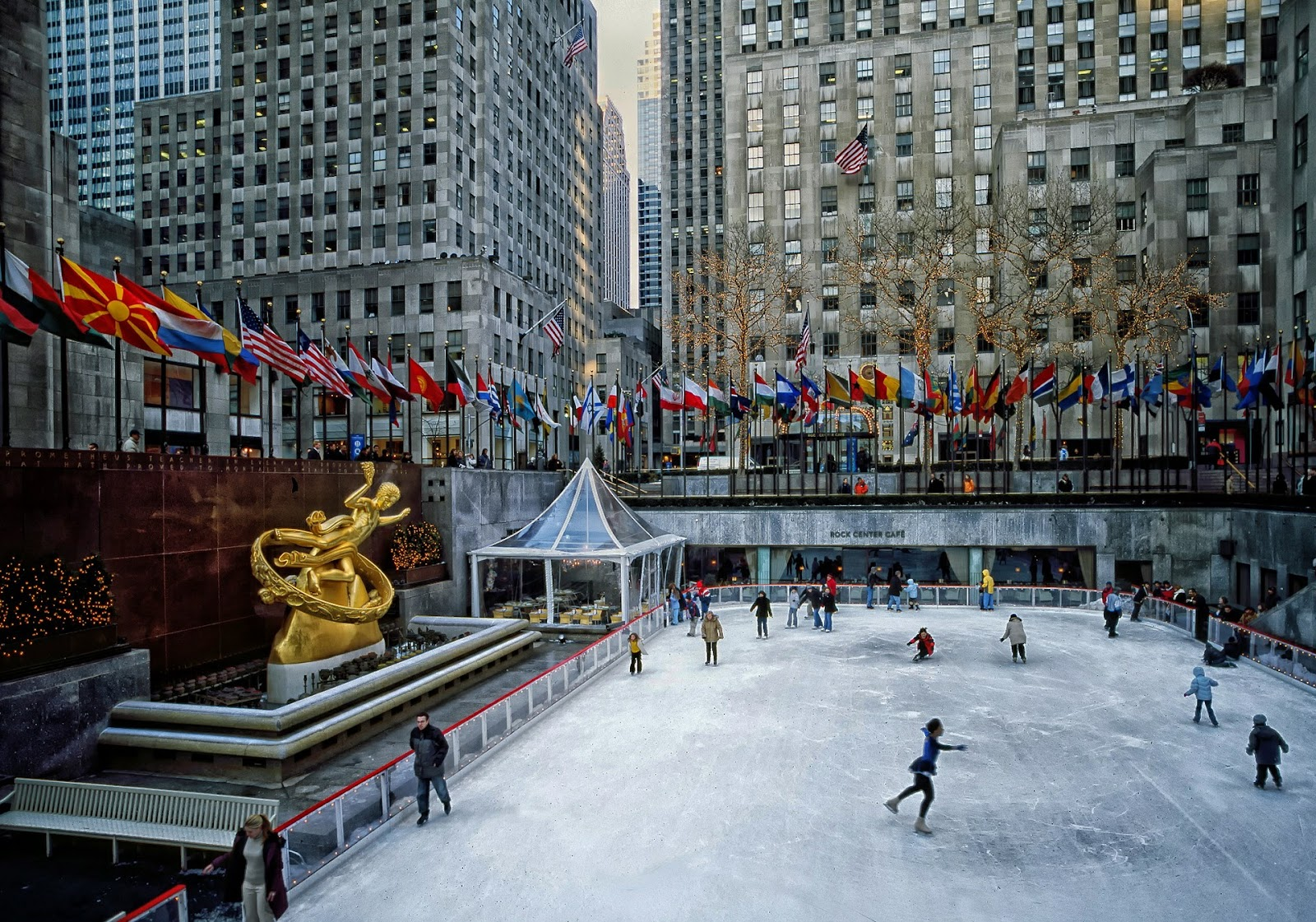 Rockefeller Center in the snow