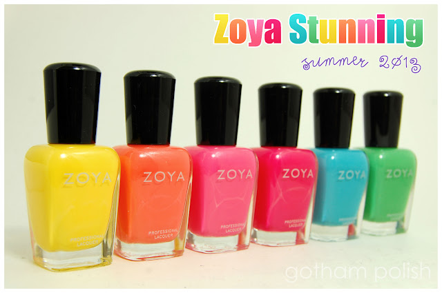 Zoya Stunning Summer 2013 Nail Polish Collection