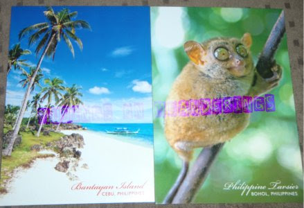 postcards, souvenirs, Cebu, Bohol