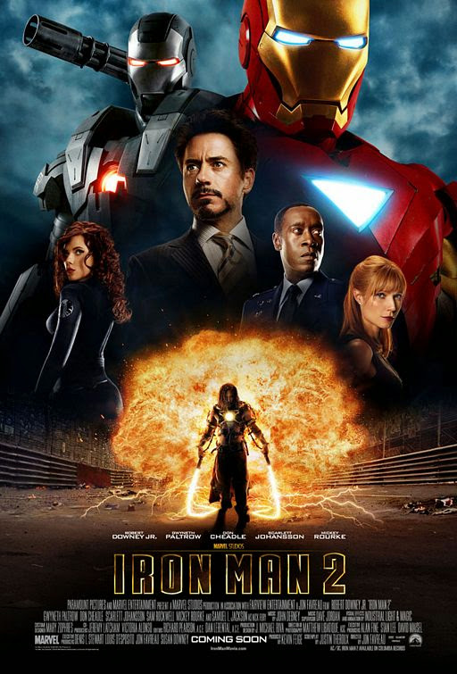 Poster Of Iron Man 2 (2010) Full Movie Hindi Dubbed Free Download Watch Online At Alldownloads4u.Com
