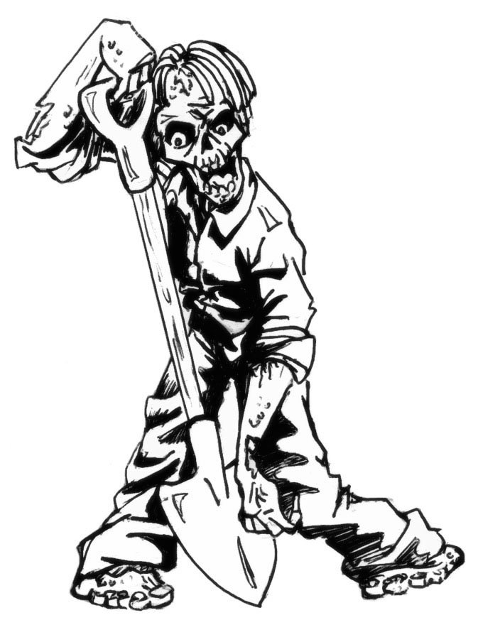 Nightmare fuel podcast march 2011 Coloring book zombie