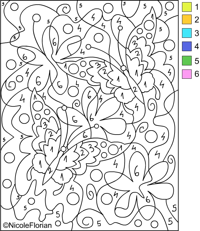 COLOR BY NUMBER * Coloring pages title=