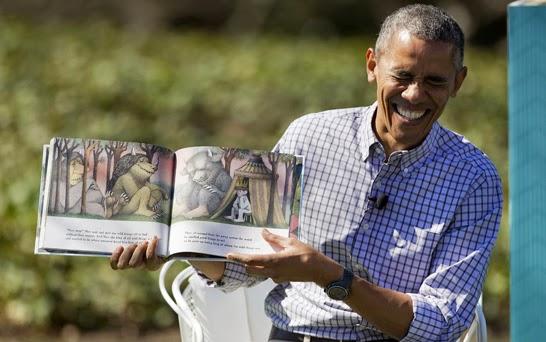 Tong thong Obama doc truyen cho cac em nho Anh