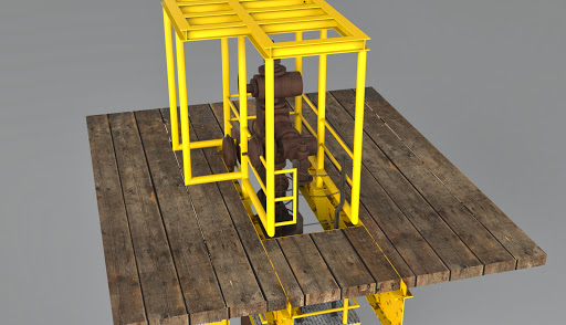 Wellhead valves access platform visualization | feniks lab