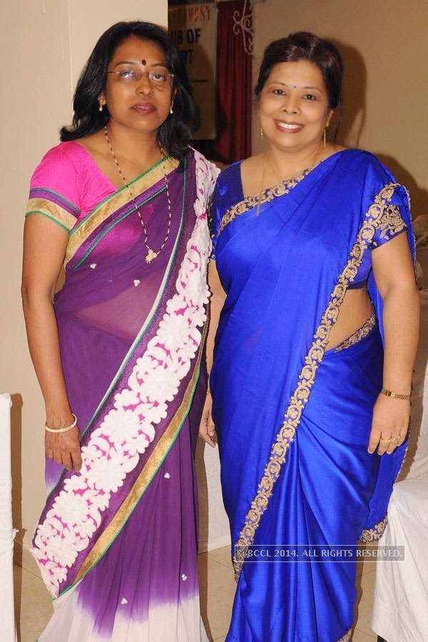 Vaishali Barai and Dr Sharmila Kulkarni during Rotary Club Fort's installation ceremony, held at Heritage Hotel, in Nagpur.