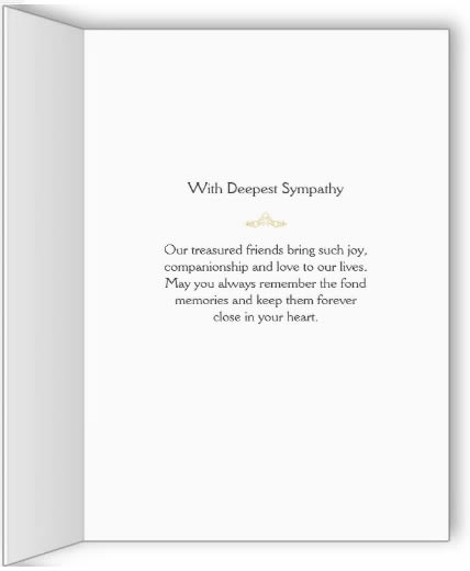 Inside Greeting for Dog Sympathy - Little Dog in Heaven - Dog Sympathy Card