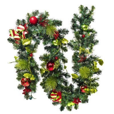 9' Traditional Prelit Garland