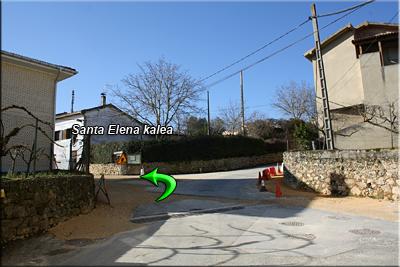Cruce, seguimos por Santa Elena