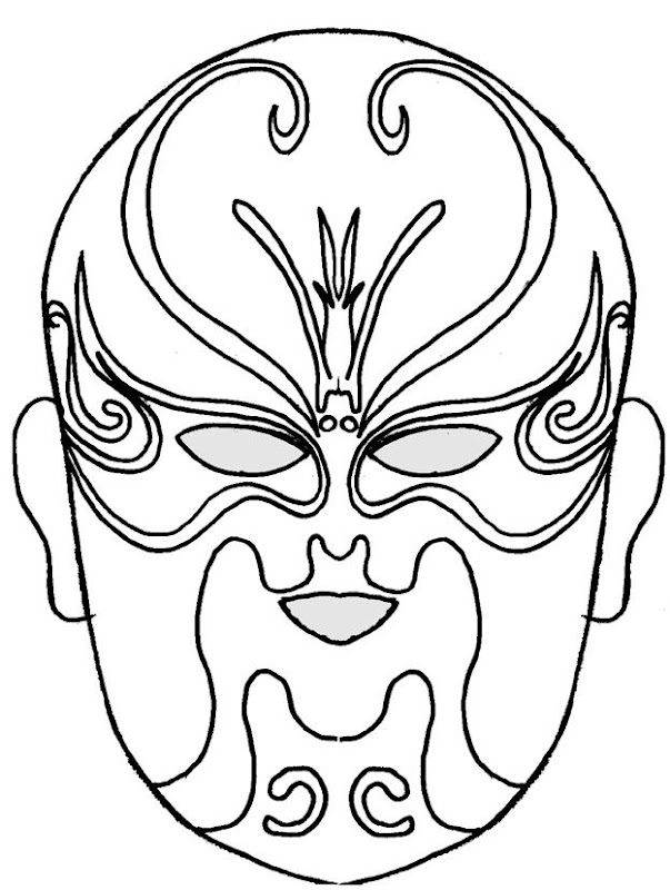 Fighter Mask coloring pages