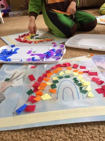 Kid-made decorations for a variety of ages that will brighten up any window and welcome Spring!