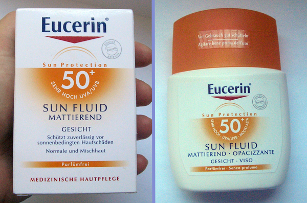 Sunscreen - Eucerin Sun Protection Sun Mattifying Fluid SPF 50+ - Упаковка