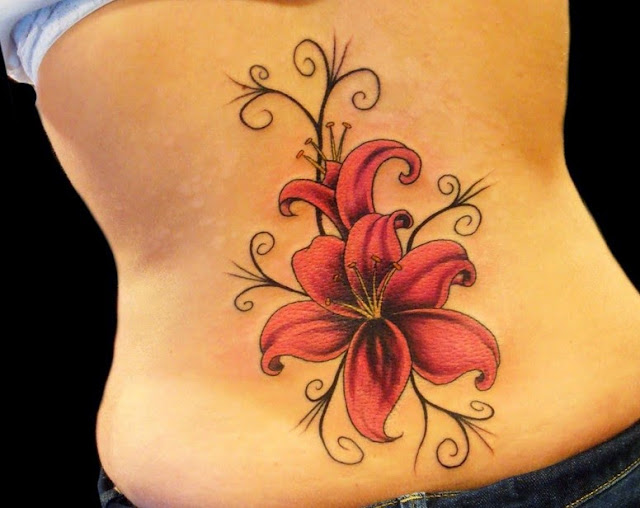 50 creative and beautiful flower tattoos you must see. Black Bedroom Furniture Sets. Home Design Ideas
