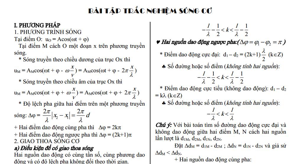 phuong phap giai bai tap song co