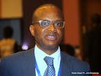 Ministre Maker Mwangu le 20/08/2014 à Kinshasa, lors de la première revue conjointe du plan intérimaire de l'éducation. Radio Okapi/Ph. John Bompengo