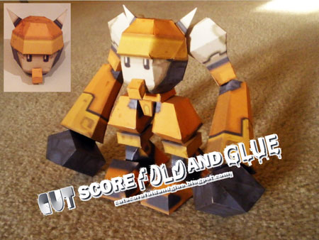 Mega Man Legends Bon Bonne Papercraft