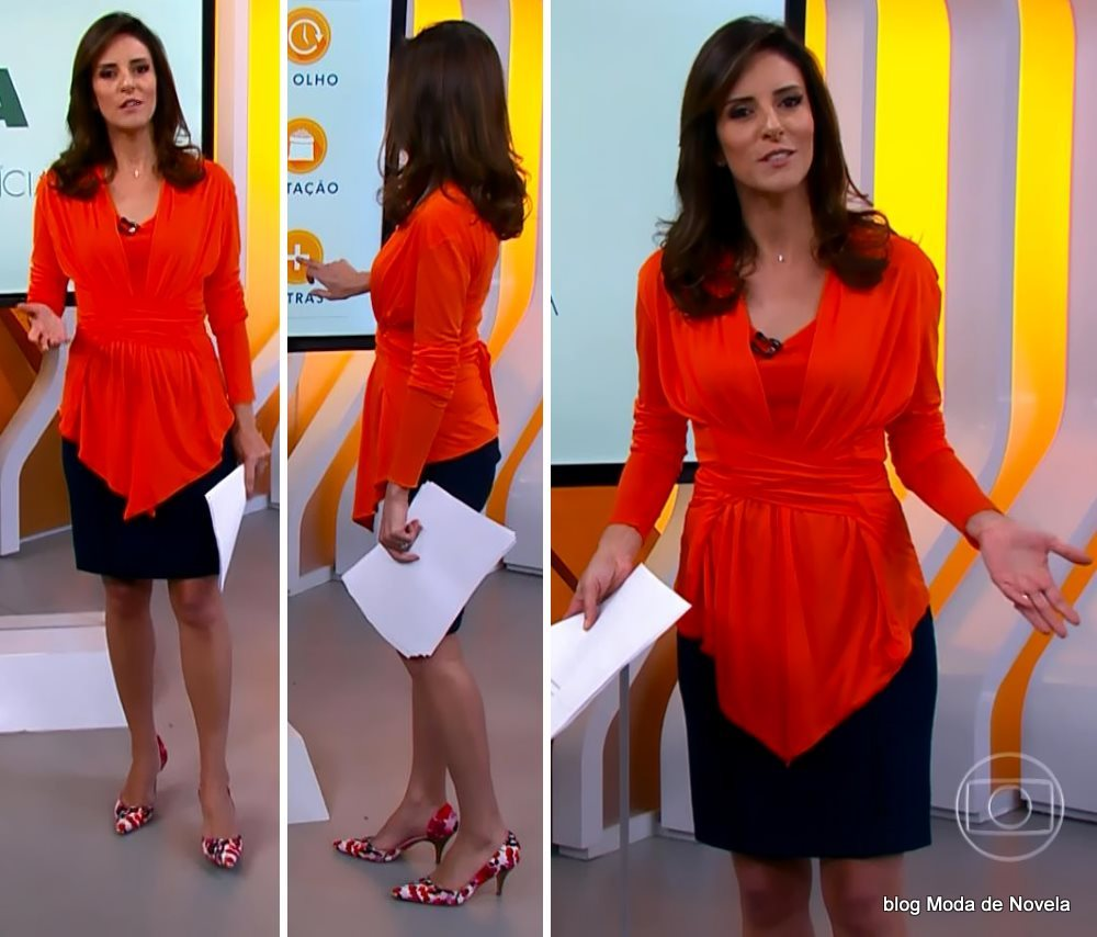 moda do programa Hora 1, look da Monalisa Perrone dia 15 d dezembro