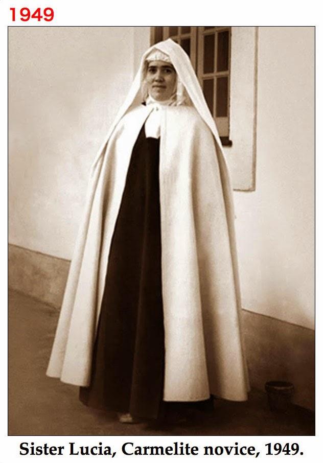 Sister Lucia, Carmelite novice, 1949.